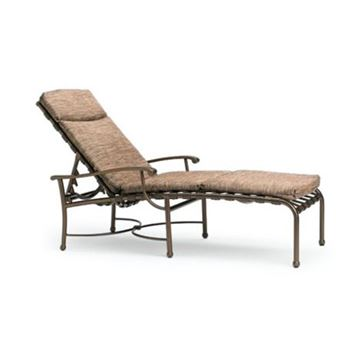 Picture of Tropitone Sorrento Cross Strap Chaise Lounge with Aluminum Frame, 33 lbs.
