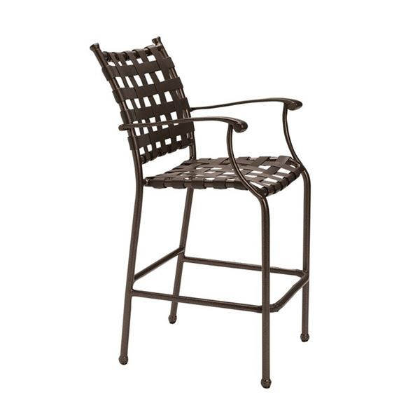 Picture of Tropitone Sorrento Cross Strap Bar Stool with Aluminum Frame, 41 lbs.