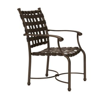 Picture of Tropitone Sorrento Cross Strap Dining Chair with Aluminum Frame, 15 lbs.