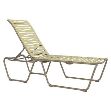 Picture of Tropitone Millennia EZ Span Vinyl Strap Armless Chaise Lounge, ADA Compliant, Stackable, 24.5 lbs.