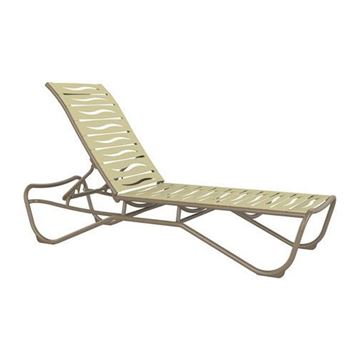 Picture of Tropitone Millennia EZ Span Vinyl Strap Armless Chaise Lounge Stackable Aluminum Frame, 28.5 lbs.