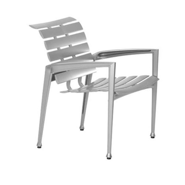 Picture of Tropitone Veer Cast Aluminum Dining Chair, 30 lbs.