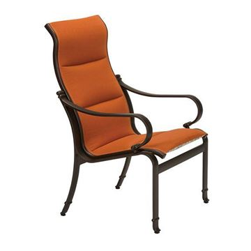 Picture of Tropitone Torino Padded Sling Patio High Back Dining Chair, 17.5 lbs.