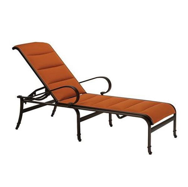 Picture of Tropitone Torino Padded Sling Chaise Lounge, 30 lbs.