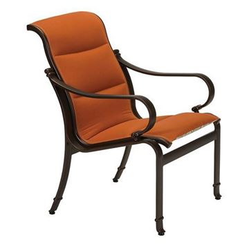 Picture of Tropitone Torino Padded Sling Dining Chair, 17.5 lbs.