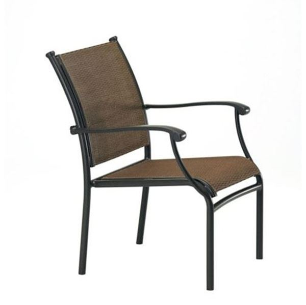 Picture of Tropitone Sorrento Relaxed Sling Dining Chair with Stackable Aluminum Frame,  9.5 lbs.