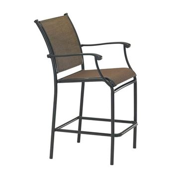 Picture of Tropitone Sorrento Relaxed Sling Bar Stool with Aluminum Frame,  15.5 lbs.