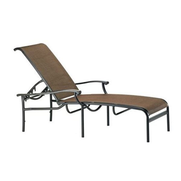 Picture of Tropitone Sorrento Relaxed Sling Chaise Lounge with Stackable Aluminum Frame,  25 lbs.