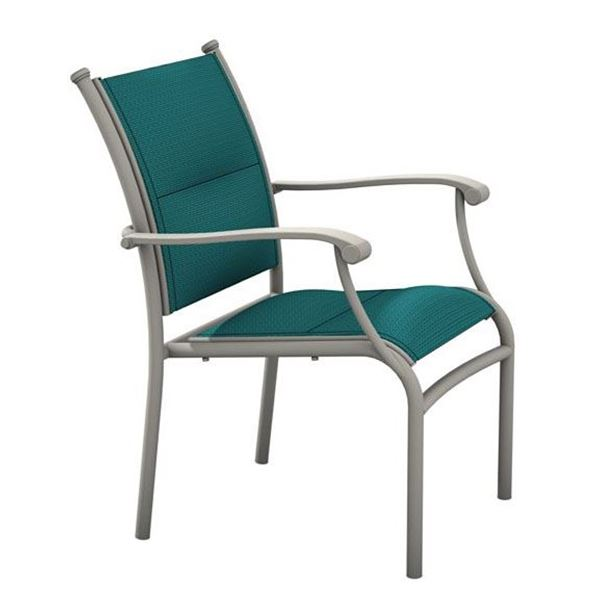 Picture of Tropitone Sorrento Padded Sling Dining Chair with Stackable Aluminum Frame,  13.5 lbs.