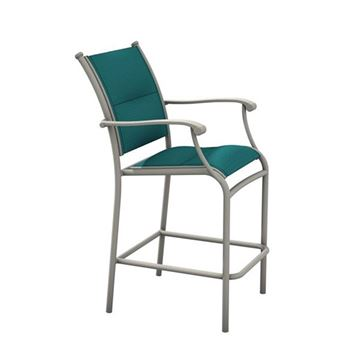 Picture of Tropitone Sorrento Padded Sling Bar Stool with Aluminum Frame,  19.5 lbs.