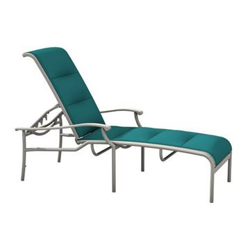 Picture of Tropitone Sorrento Padded Sling Chaise Lounge with Stackable Aluminum Frame,  32 lbs.