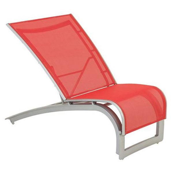 Tropitone Flair Sling Recliner with Stackable Aluminum Frame