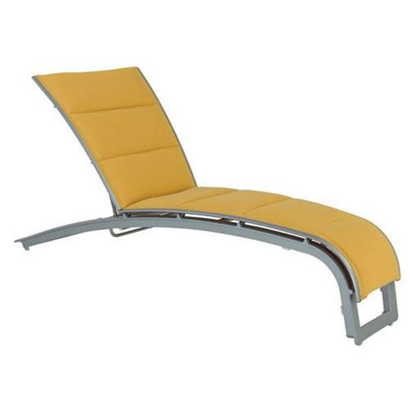 Tropitone Flair Padded Sling Chaise Lounge with Stackable Aluminum Frame
