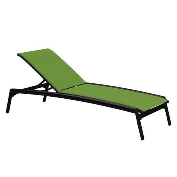 Picture of Tropitone Elance Relaxed Sling Armless Chaise Lounge, Stackable, 28 lbs.