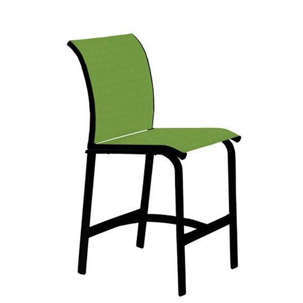 Picture of Tropitone Elance Relaxed Sling Armless Bar Stool, 13.3 lbs.
