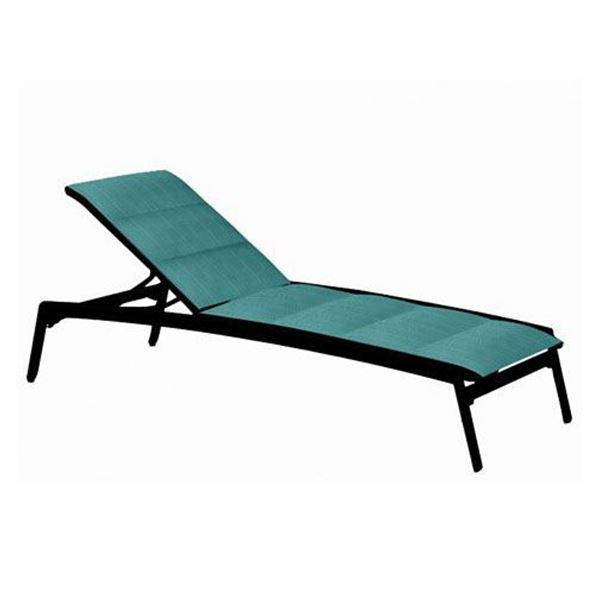Picture of Tropitone Elance Padded Sling Armless Chaise Lounge, Stackable, 35 lbs.