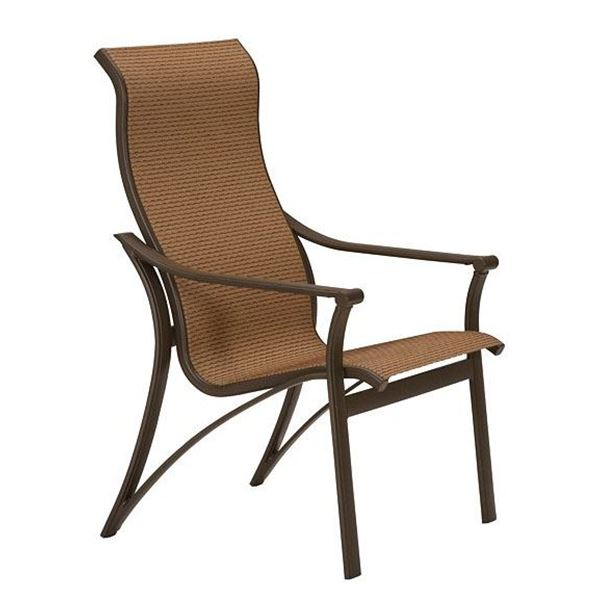 Picture of Tropitone Corsica Sling High Back Dining Chair, 43 lbs.