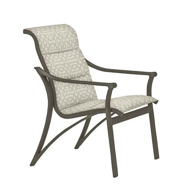 Picture of Tropitone Corsica Padded Sling Dining Chair, 15 lbs.