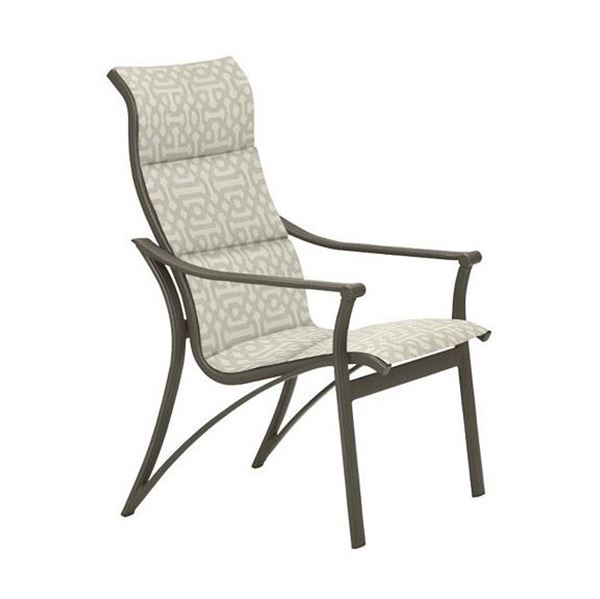 Picture of Tropitone Corsica Padded Sling High Back Dining Chair, 43 lbs.