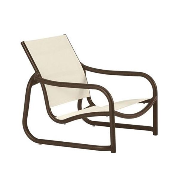 Tropitone La Scala Relaxed Sling Sand Chair with Sled Base