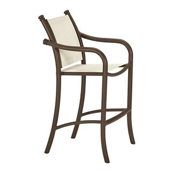Picture of Tropitone La Scala Relaxed Sling Bar Stool with Aluminum Frame,  13 lbs.