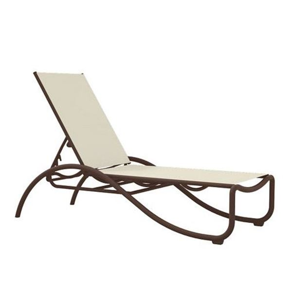Tropitone La Scala Relaxed Sling Chaise Lounge with Aluminum Frame