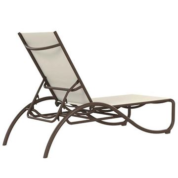 Picture of Tropitone La Scala Relaxed Sling Chaise Lounge with Aluminum Frame,  22 lbs.