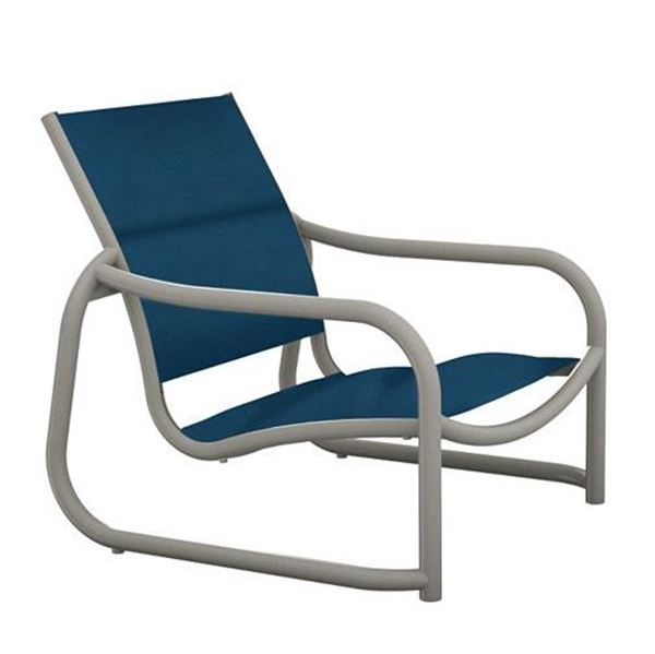 Tropitone La Scala Padded Sling Sand Chair with Sled Base