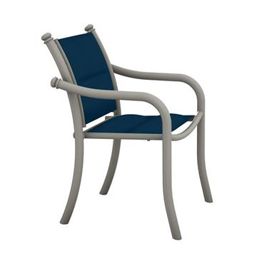 Picture of Tropitone La Scala Padded Sling Dining Chair with Aluminum Frame,  14 lbs.