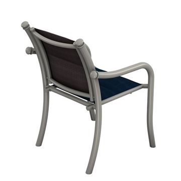 Tropitone La Scala Padded Sling Dining Chair with Aluminum Frame