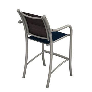 Picture of Tropitone La Scala Padded Sling Bar Stool with Aluminum Frame,  17 lbs.