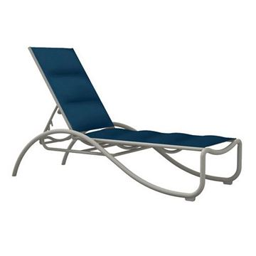 Tropitone La Scala Padded Sling Chaise Lounge with Aluminum Frame