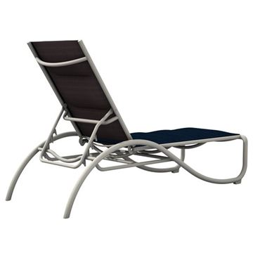 Tropitone La Scala Padded Sling Chaise Lounge with Aluminum Frame