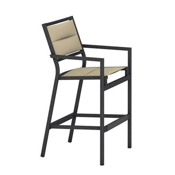 Picture of Tropitone Cabana Club Padded Sling Bar Stool, 15.5 lbs.