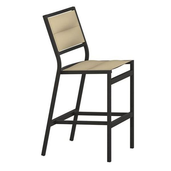 Picture of Tropitone Cabana Club Padded Sling Armless Bar Stool, 14 lbs.