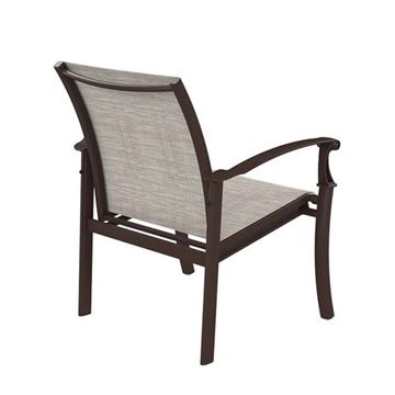 Picture of Tropitone Cantos Relaxed Sling Dining Chair, Stackable, 14.5 lbs.