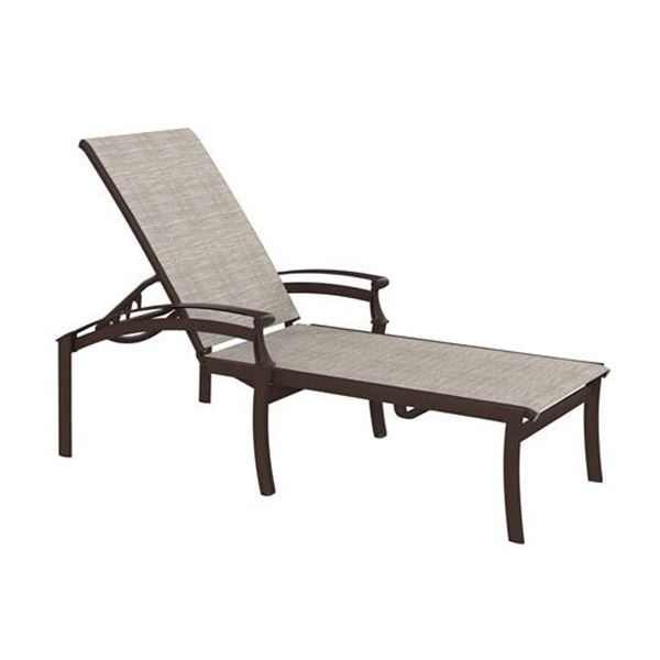 Picture of Tropitone Cantos Relaxed Sling Chaise Lounge, Stackable, 29 lbs.