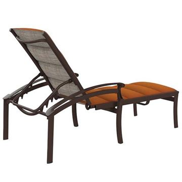 Picture of Tropitone Cantos Padded Sling Chaise Lounge, Stackable, 31.5 lbs.
