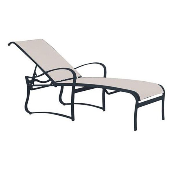 Picture of Tropitone Shoreline Sling Chaise Lounge with Aluminum Frame, 28 lbs.