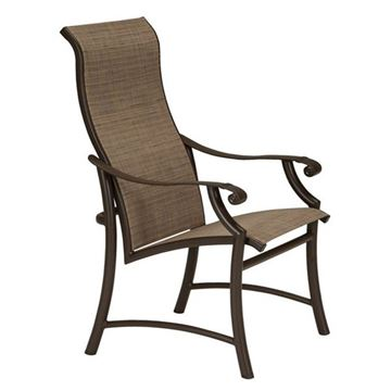 Picture of Tropitone Montreux II Sling High Back Patio Dining Chair, 14.5 lbs.