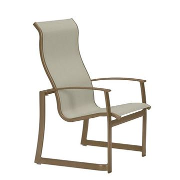 Picture of Tropitone Mainsail Sling High Back Dining Chair, Stackable, For Commercial Pool Deck and Patios, 12 lbs.