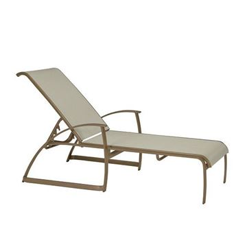 Picture of Tropitone Mainsail Sling Chaise Lounge, Stackable, For Commercial Pool Deck and Patios, 24 lbs.