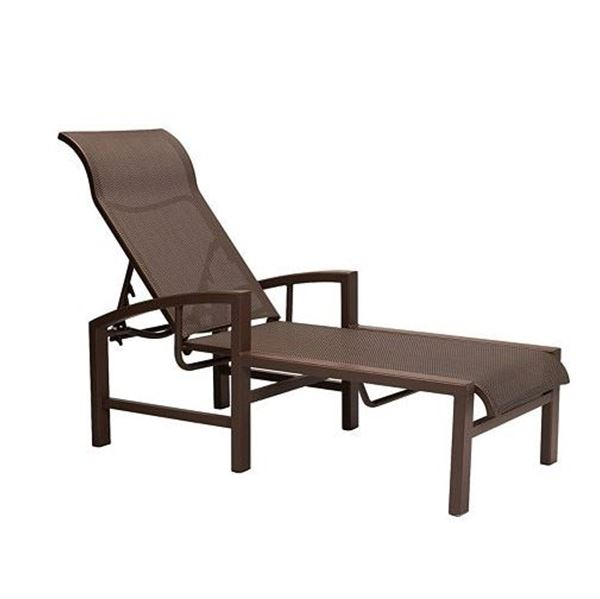 Tropitone Lakeside Sling Chaise Lounge with Aluminum Frame