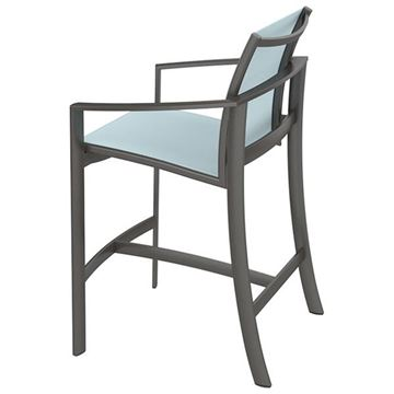 Picture of Tropitone Kor Relaxed Sling Bar Stool, 11.5 lbs.