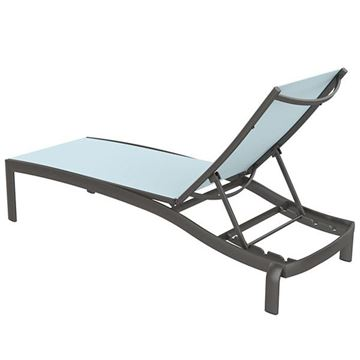 Picture of Tropitone Kor Relaxed Armless Chaise Lounge, 28 lbs.