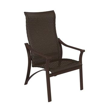 Picture of Tropitone Corsica Woven High Back Dining Chair, 19 lbs.