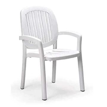 Picture Of Ponza High Back Plastic Resin Armchair, 9 Lbs.