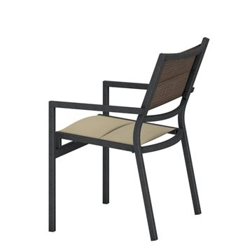 Picture of Tropitone Cabana Club Padded Sling Dining Chair, Stackable, 10 lbs.
