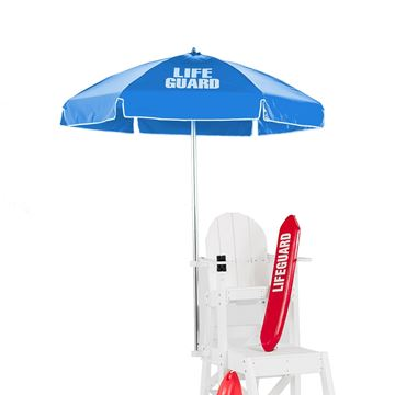 6.5 Foot Lifeguard Umbrella with Aluminum Pole