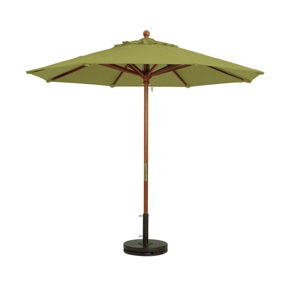 7 Foot Market Umbrella Octagon with Two-Piece Wood Pole